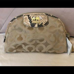 Coach Snakeskin Cosmetic Bag